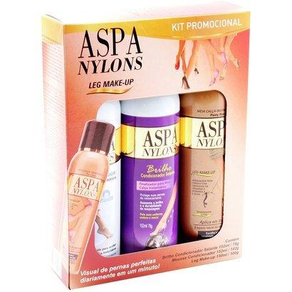 Aspa Kit Nylons Base Deep Glow + Mousse + Condicionador Leg Make Up Selante...