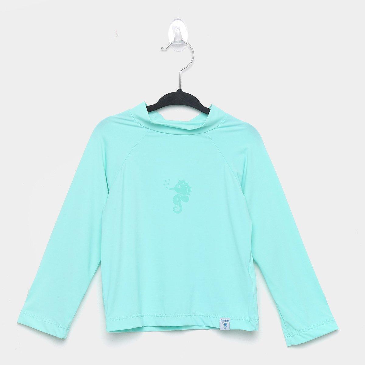 Camiseta Bebê Ecoeplay Manga Longa Proteção UV Masculina