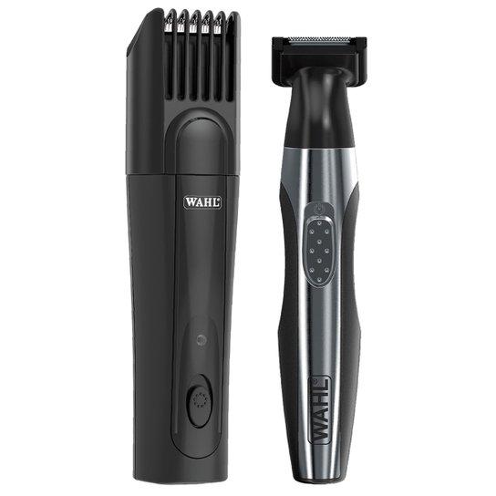 01c32169c Kit Wahl Máquina de Acabamento p/ Cabelo e Barba + Aparador de Pelos Quick  Style