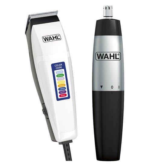 139c91a46 Kit Wahl Máquina de Corte Color Code 110V + Mini Aparador de Pelos Nasal  Trimmer à
