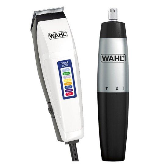 e93fa7a1b Kit Wahl Máquina de Corte Color Code 220V + Wahl Mini Aparador de Pelos  Nasal Trimmer