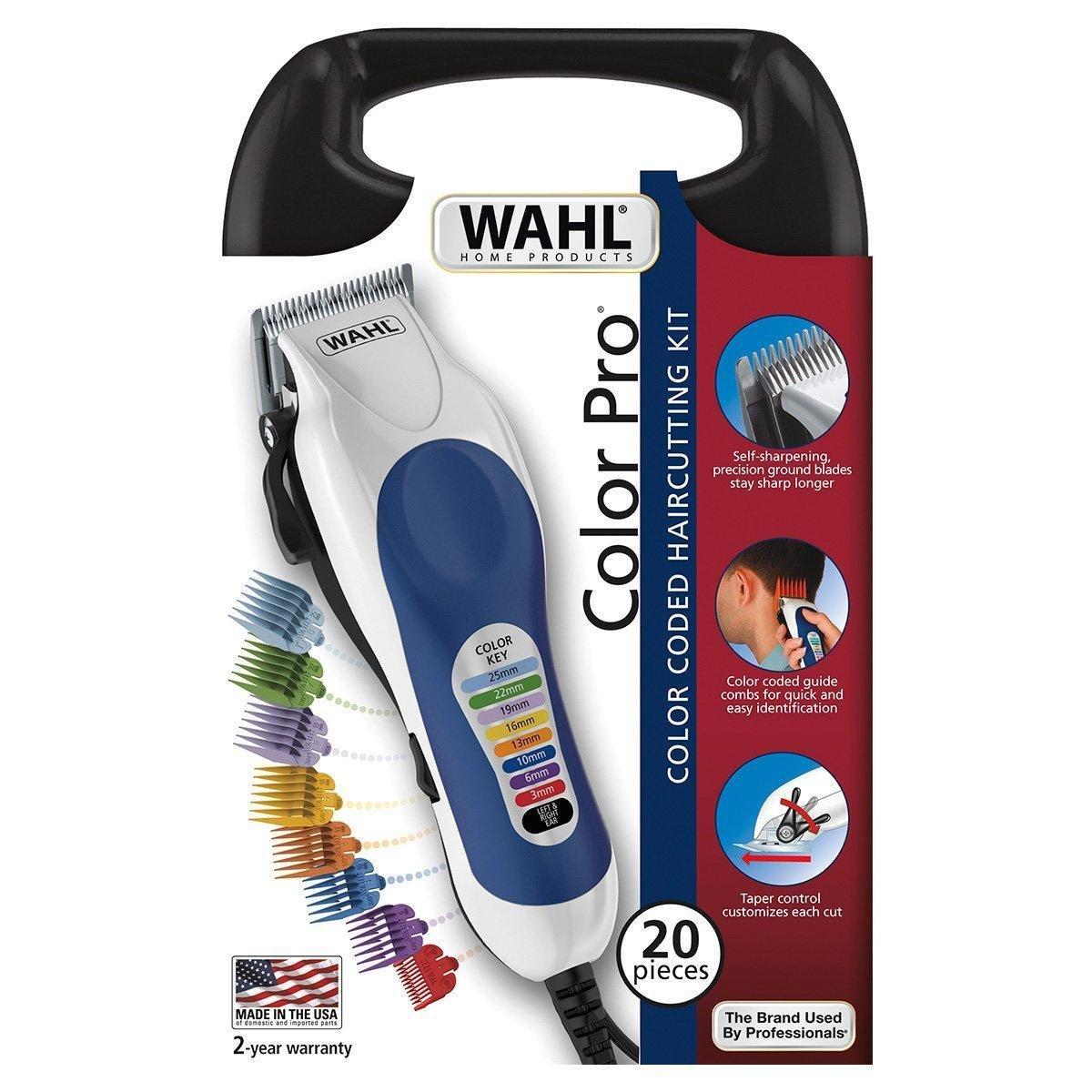 Máquina de Cortar Cabelo Wahl Color Pro 127V