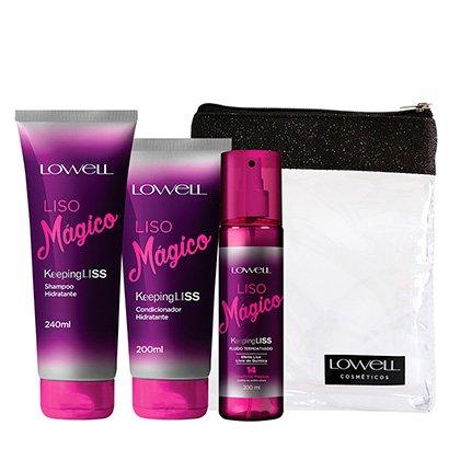 Kit Lowell Liso Mágico Shampoo 240ml + Condicionador 200ml + Fluido...