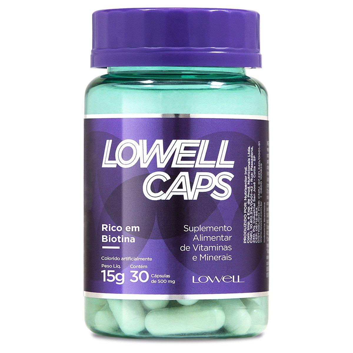 Suplemento Alimentar Lowell Caps 15g com 30 cápsulas