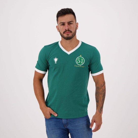 6d101f21ba592 Camisa Retrômania Palmeiras 1951 Masculina - Verde - Compre Agora ...