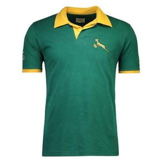 Camisa Rugby Retrômania Springboks 1995 Masculina 4faa459236287