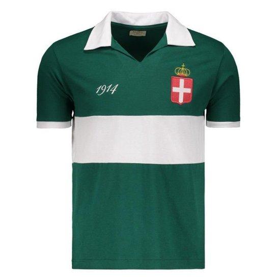 b7f4021321d357 Camisa Palmeiras Retrô 1914 Masculina - Verde   Netshoes