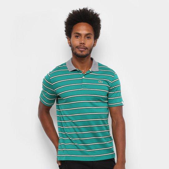 0500581dae Camisa Polo Lacoste Listras Masculina - Compre Agora