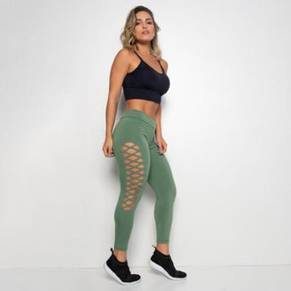Legging Honey Be Fitness Poliamida Laser Feminina