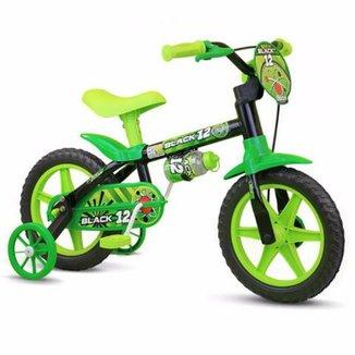 Bicicleta Bicicleta Infantil Aro 12 Black Nathor ab2e4877d402c