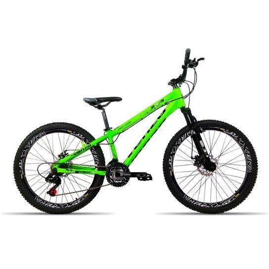 c0b7f81ef7536 Bicicleta Aro 26 Venzo FX3 Evo 21 Velocidades Relação Shimano Aro Vmaxx Freio  Disco - Verde