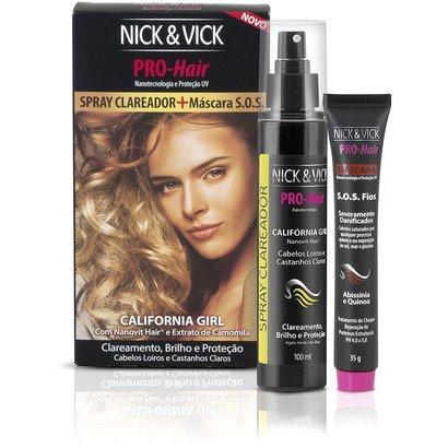 Nick & Vick PRO Hair Spray Clareador 100g + Máscara SOS 35g