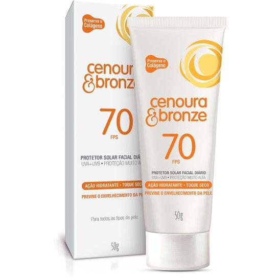 64fa829d6 Protetor Solar Facial Cenoura   Bronze FPS70 50g - Compre Agora ...