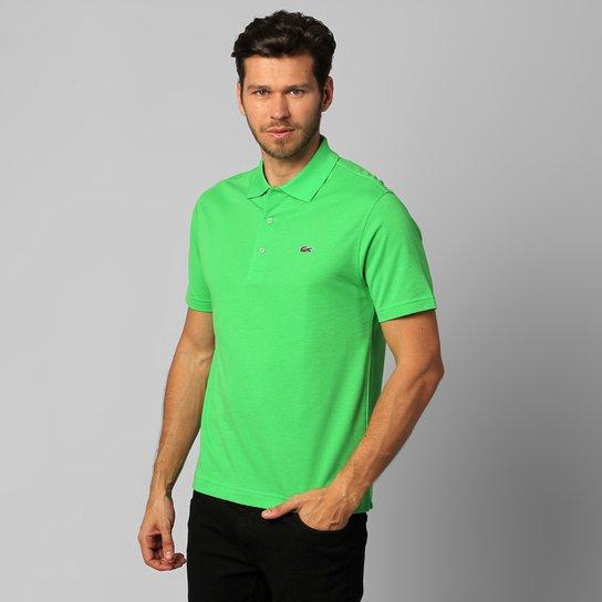 f5bc3f1999e84 Camisa Polo Lacoste Super Light Masculina - Verde claro - Compre ...