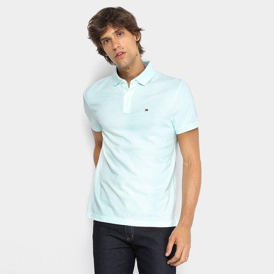 42ee5bb91 Camisa Polo Tommy Hilfiger Básica Masculina - Verde água - Compre ...