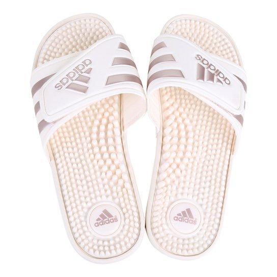 b5508f4bc Chinelo Slide Adidas Adissage Feminino - Creme - Compre Agora