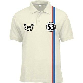 Camisa Polo Fórmula Retrô Fusca Herbie 4f07e319658bc