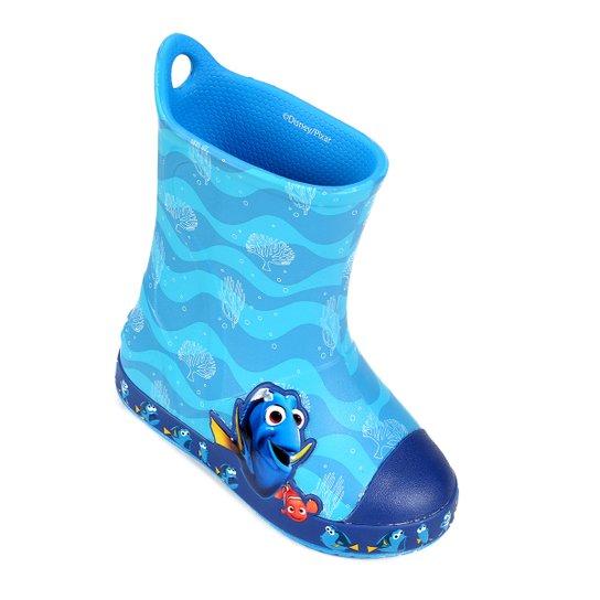 a35b2b7bc8e Bota Galocha Infantil Crocs Bump It Procurando Dory - Azul Claro ...