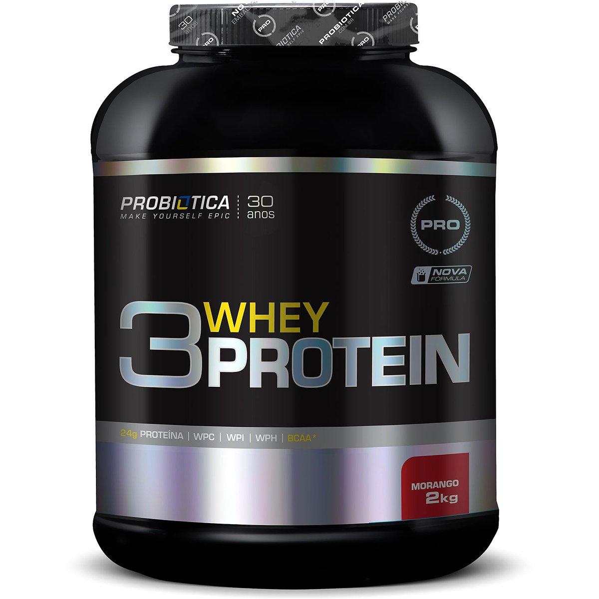 5ff88fcf1 3 Whey Protein 2kg - Probiótica