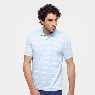 Camisa Polo Blue Bay Malha Fio Tinto Listrada Masculina 69cc62878006e