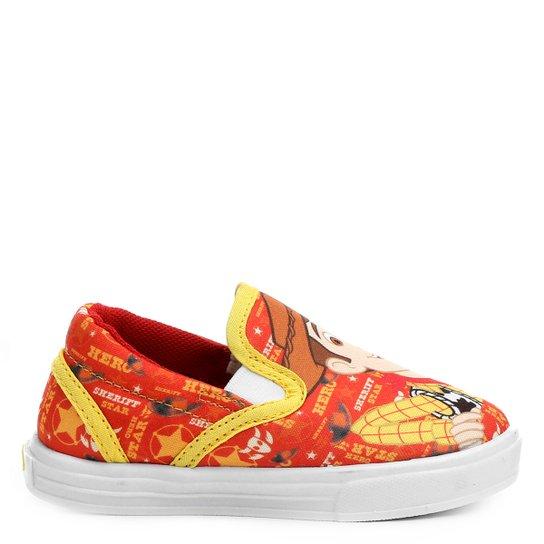 Tênis Disney Iate Woody Infantil - Amarelo+Laranja af5063b02df30