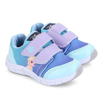 9c07bbf4aa Tênis Infantil Disney Velcro Frozen Feminino
