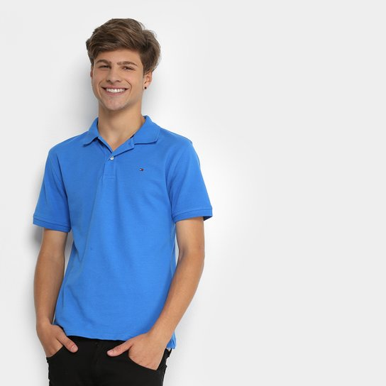 Camisa Polo Infantil Tommy Hilfiger Knit New Masculina - Azul Royal ... 295b7bd330027