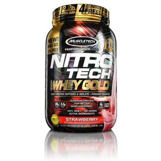 Whey Protein Nitro Tech 100% Whey Gold 2.2 Lbs  Muscletech