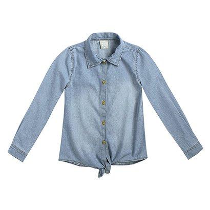 Camisa Jeans Infantil Hering Kids Feminina