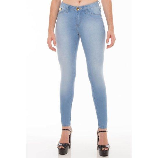 cd7bedfae729 Calça Jeans Skinny Eventual Feminina - Azul Claro