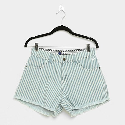 Shorts Jeans Roxy Stripe Days Feminino