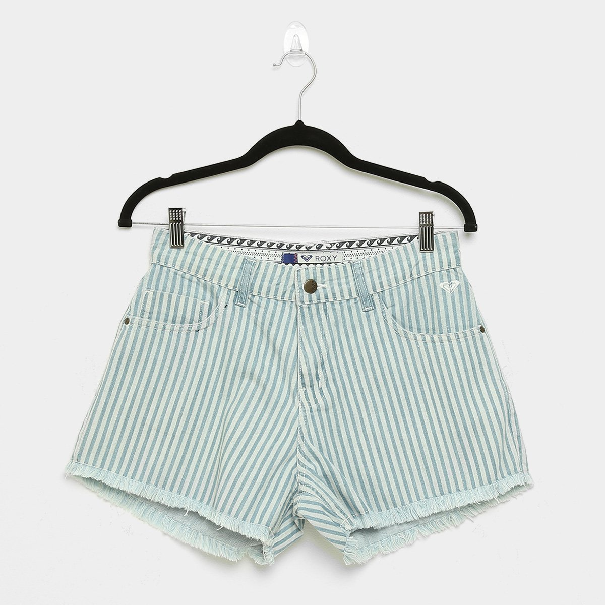 Shorts Jeans Roxy Stripe Days Feminino