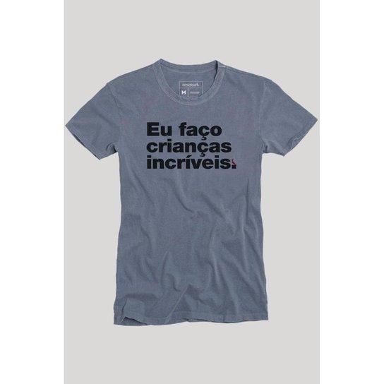9be292c514bb Camiseta Faço Crianças Incríveis Reserva Masculina - Azul Claro ...
