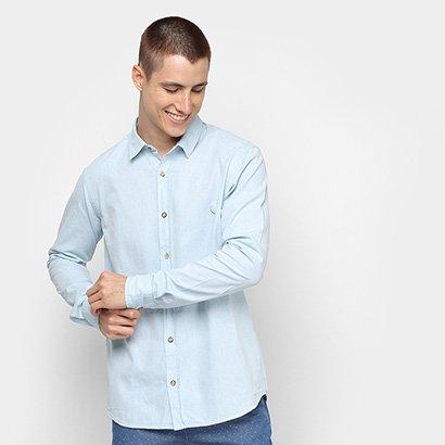 Camisa Social Reserva Regular Chambray Masculina