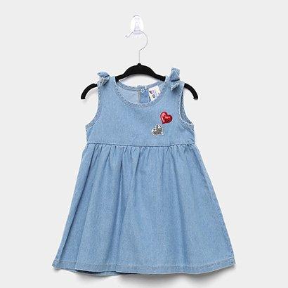 Vestido Infantil Pulla Bulla Índigo