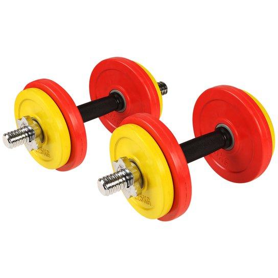 7c8aa7a8e Kit de Halteres GONEW 20 kg Ajustável - Vermelho+Amarelo