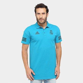 Camisa Polo Real Madrid Adidas UCL Masculina bda2b1b46150d