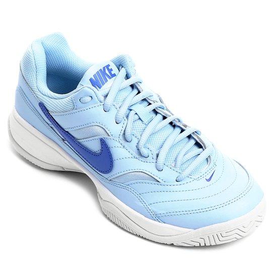a719a8d2c2d Tênis Nike Wmns Nike Court Lite Feminino - Azul Claro - Compre Agora ...
