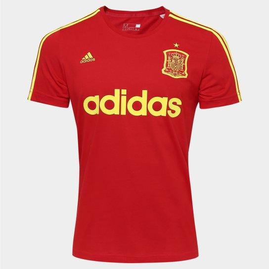 949b04d70bddf Camiseta Espanha Adidas Retrô Masculina - Vermelho+Amarelo