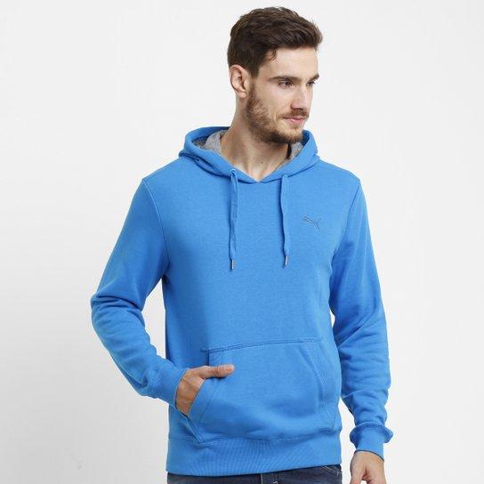 3fff560ab4c1b Moletom Puma Ess Hooded Sweat Tr c/ Capuz - Azul Claro