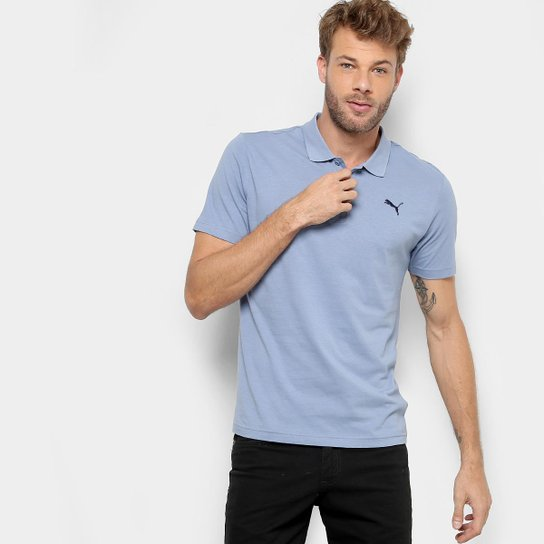 4391c87786 Camisa Polo Puma Ess Jersey Masculina - Azul Claro - Compre Agora ...