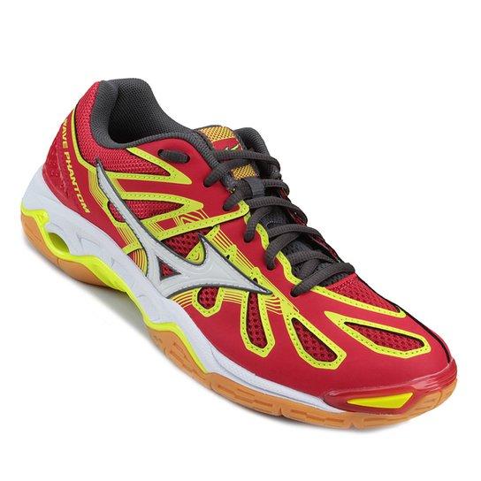 268abbc608 Tênis Mizuno Wave Phantom Masculino - Vermelho e Amarelo