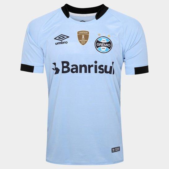 88010bf396 Camisa Umbro Grêmio II 17 18 S Nº - Torcedor - Patch Campeão libertadores