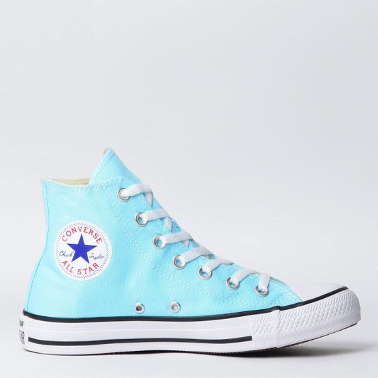 2654d3d0780 Tênis Converse Chuck Taylor All Star Seasonal Hi New - Azul Claro ...