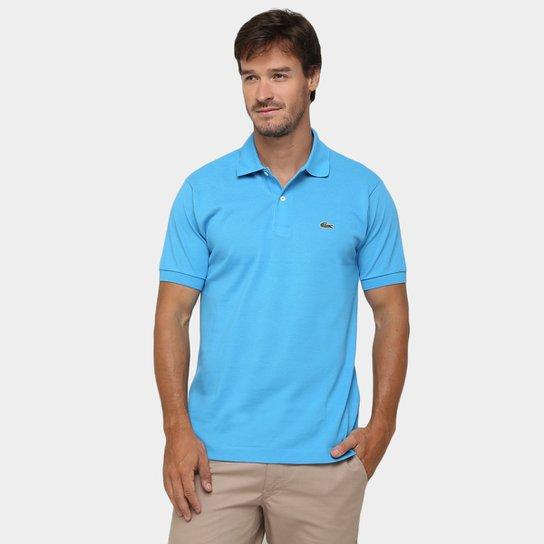 Camisa Polo Lacoste Original Fit Masculina - Azul Royal e Verde ... cecfe78d24