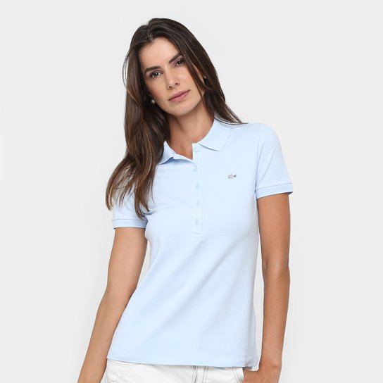 3734221989 Camisa Polo Lacoste Logo Feminina - Compre Agora