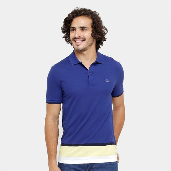 b11a605f3 Camisa Polo Lacoste Piquet Colors Slim Fit Masculina - Compre Agora ...