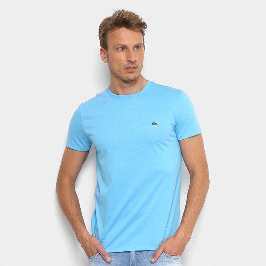 Camiseta Lacoste Básica Jersey Masculina - Azul Claro - Compre Agora ... e2424e1c7c