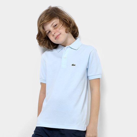 Camisa Polo Infantil Lacoste Masculina - Azul Claro - Compre Agora ... de2a44be08