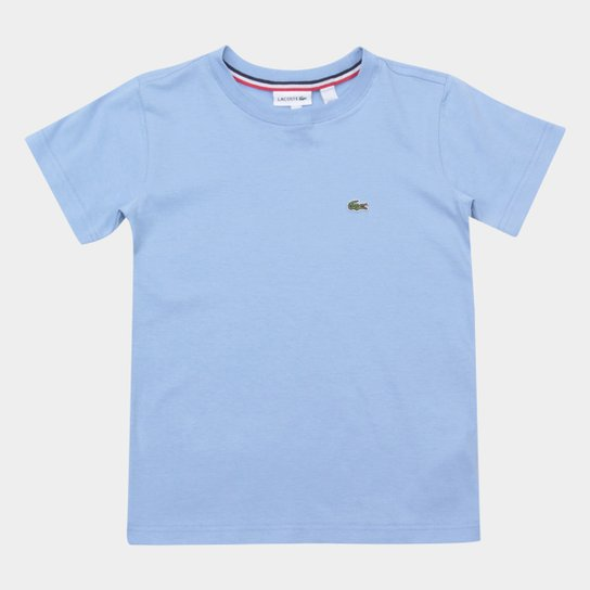 Camiseta Infantil Lacoste Logo Masculina - Azul Claro - Compre Agora ... 3bedb5b17d